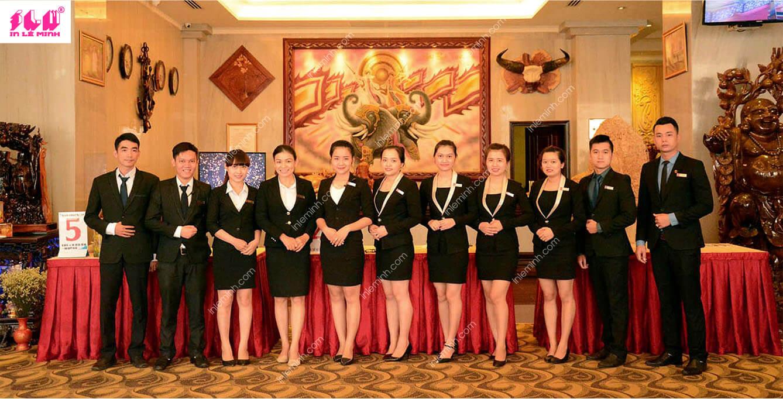 may đồng phục nhà hàng khách sạn